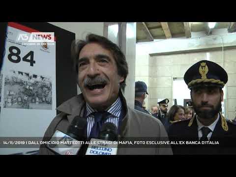 14/11/2019 | DALL'OMICIDIO MATTEOTTI ALLE STRAGI DI MAFIA, FOTO ESCLUSIVE ALL'EX BANCA D'ITALIA