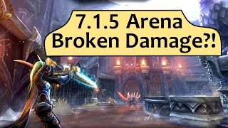 Patch 7.1.5 is here and the arena ladder is...quite something. These Arcane/Assassination/Rdruid 3v3 games were recorded on...