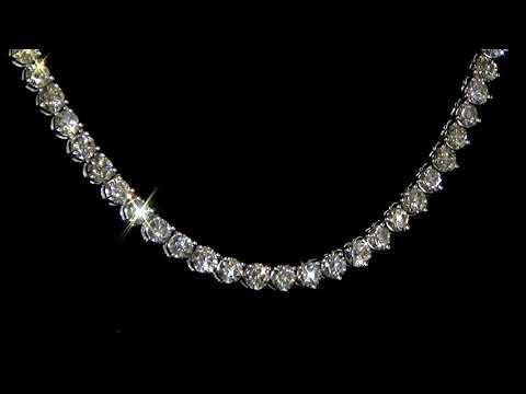女裝18K白金18.48克拉(總重)鑽石項鏈