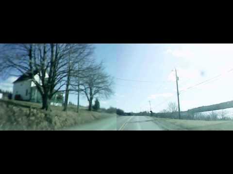 Driving in Nova Scotia: Saulnierville Station, Bangor, Meteghan Station - Spring 2013