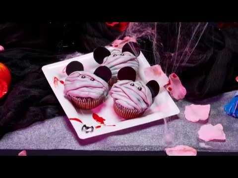 Rezept-Idee Mickey Mumien Cupcakes auf Halloween-Art