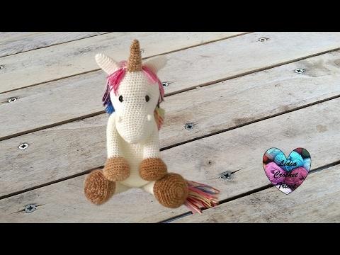 Amigurumi Licorne crochet 1/2 / Unicorn amigurumi crochet (english subtitles)