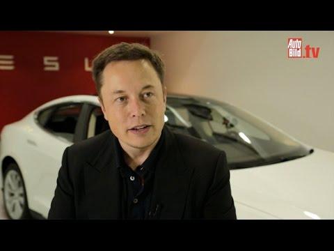 tesla - Tesla CEO Elon Musk in an interview.