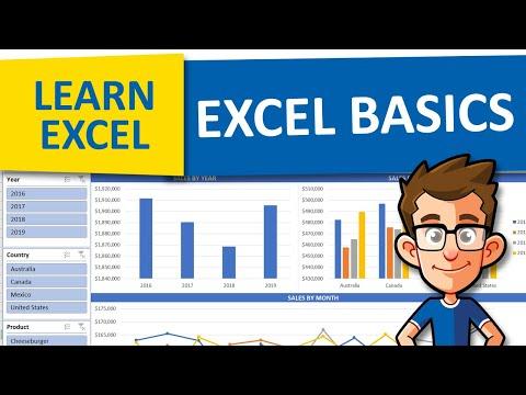 EXCEL BASICS FOR BEGINNERS   EXCEL FOR BEGINNERS