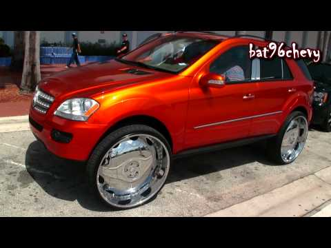 Candy Orange Mercedes Benz ML 350 on 30