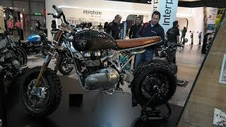 8. Triumph Bonneville Concepts, two special bikes at the Triumph booth in EICMA Milan, 2014