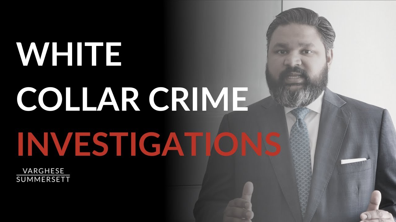 What should you do if you're being investigated for white collar crime?