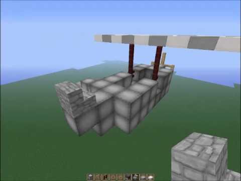 Minecraft-Nasıl Yapılır | Savaş Uçağı Yapımı