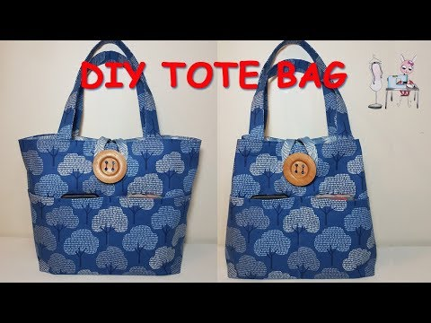 DIY TOTE BAG | Bag Ideas Sewing | Sewing Tutorial | Coudre Un Sac | Bolsa De Bricolaje | 가방