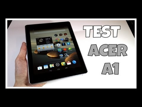 Acer Iconia A1-810 / Test – Prise en main de la tablette