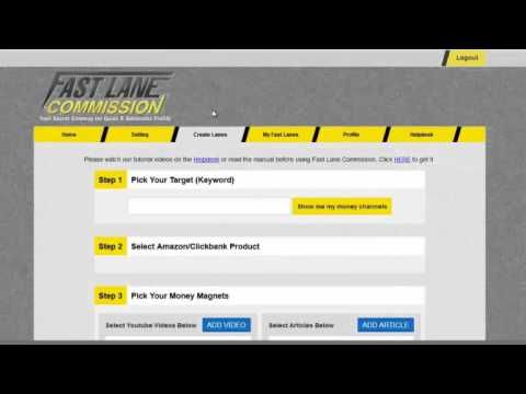 Video: Fast Lane Commission Review – how the System works – Members Area Walkthrough and Overview