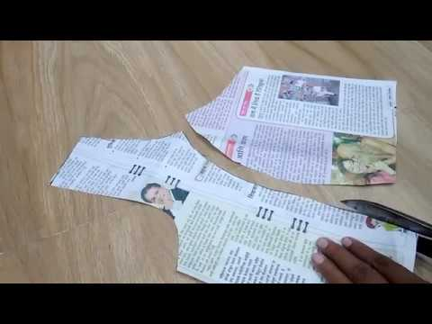 princess cut blouse drafting in hindi