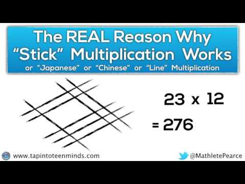 The REAL Reason Why Japanese Multiplication / Chinese Multiplication Works | Multiplication Tricks (видео)
