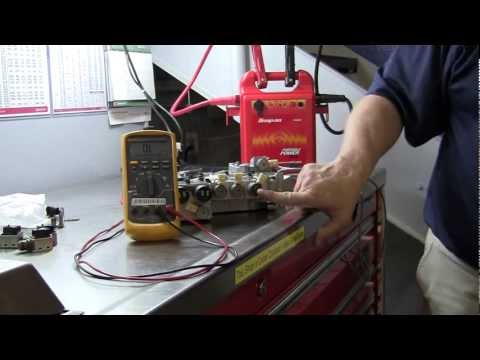 transmission pressure solenoid - Weber State University (WSU) - Automotive Technology Department - Automatic Transmission Lab. A brief technical description of the basic shift solenoid opera...