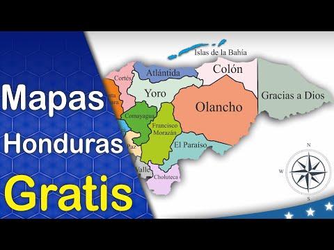 Mapas por departamento de la República de Honduras Colección 1