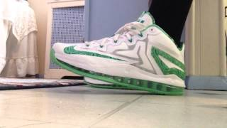 Lebron 11 low easter on feet with shorts