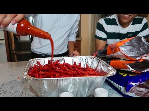 Video HOT CHEETOS AND TAKIS CHALLENGE (LOSER DRINKS TAPATIO) download in MP3, 3GP, MP4, WEBM, AVI, FLV January 2017