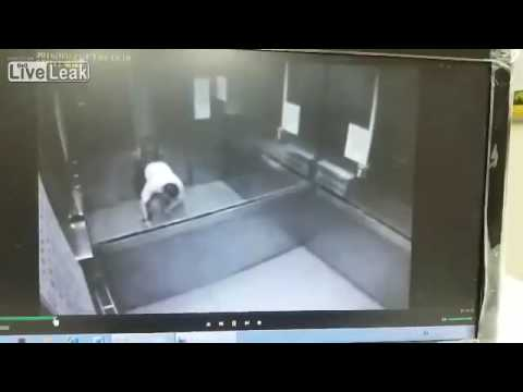 Man crushed by elevator and dies slowly - LIVELEAK