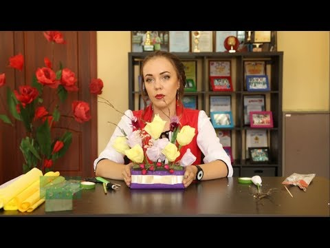 «Ручная работа». Цветы из гофрированной бумаги (10.08.2018) - DomaVideo.Ru