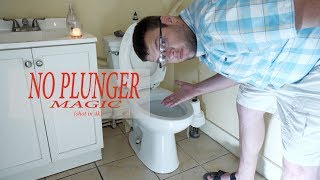 Not sure if a lot of people know this or not, but using a large bucket or garbage can like i do in this video can unclog your toilet! I hate plungers, exspecially the ones with the lips, this way is easy and clean!