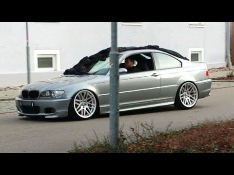 e46 330ci Slammed & Straight pipes Eisenmann Race!