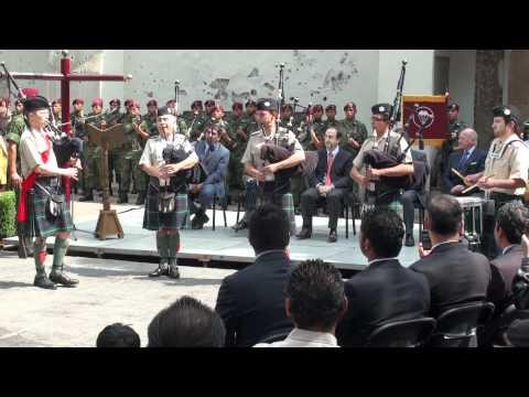Conmemoración de la Batalla de Churubusco. Banda del Batallón de San Patricio.
