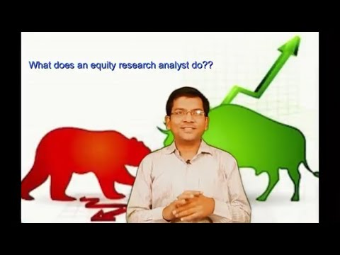 What does an equity research analyst do