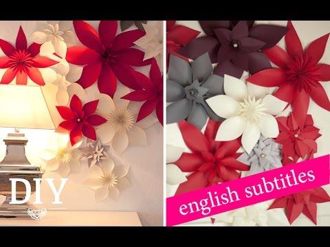 DIY: Riesige Papierblüten für Weihnachten/ Giant paper flowers for christmas | Deko Kitchen