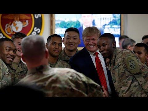 USA: Präsident Trump besucht zu Thanksgiving Soldaten ...