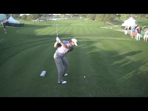 GOLF SWING 2013 – LEE WESTWOOD IRON DRIVE – ELEVATED DTL REGULAR & SLOW MOTION – 1080p HD