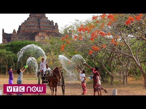 Sôi động lễ hội té nước đón năm mới ở Myanmar  | VTC1 - Thời lượng: 47 giây.