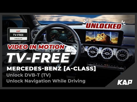 TV FREE FOR NEW A-CLASS (MBUX) - Unlock Navi / DTV