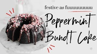 PEPPERMINT BUNDT CAKE  | baking with meghan |∙ BAKEMAS DAY 12 by Meghan Rienks