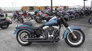 7. 033837 - 2014 Harley Davidson Softail Fat Boy Lo   FLSTFB - Used motorcycles for sale