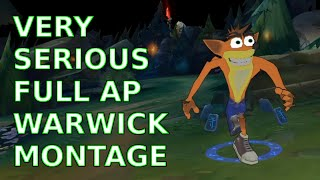 Khi thánh Warwick full AP cực bá đạo với một Q hồi gần cây máu
