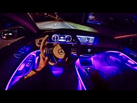 2018 Mercedes Benz S Class POV NIGHT DRIVE - AMBIENT LIGHTING - by AutoTopNL (видео)