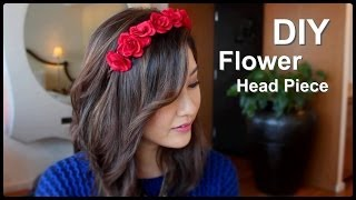 DIY Flower Crown Headband - YouTube