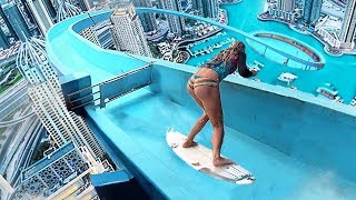 Video Top 5 Most Insane WATERSLIDE STUNTS Caught On Video! MP3, 3GP, MP4, WEBM, AVI, FLV Agustus 2018