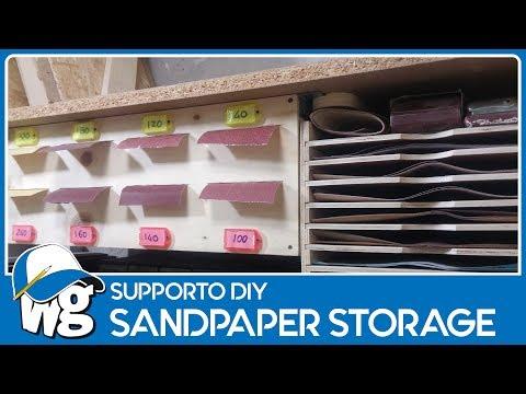 Porta carta abrasiva - Sandpaper storage and dispenser