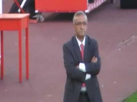 Gregorio Manzano dirigiendo al RCD Mallorca