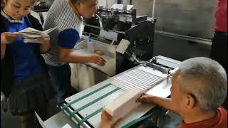 End paper pasting machine youtube video