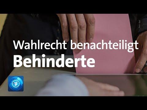 Bundesverfassungsgericht: Wahlrecht benachteiligt Behinderte