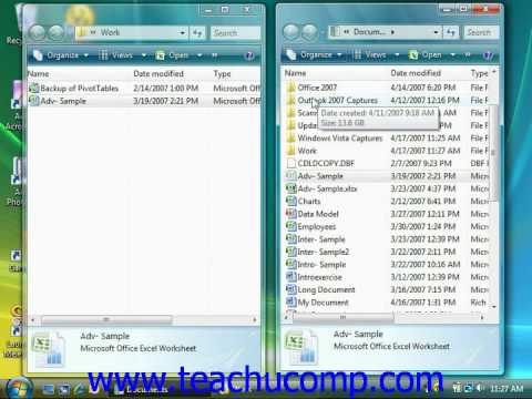Windows Tutorial Cutting and Copying and Pasting Files and Folders Microsoft Training Lesson 6.7