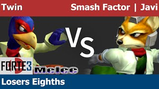 Forte 3 Melee – Twin (Falco) vs Smash Factor | Javi (Fox) – Losers Eighths