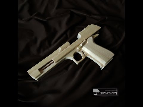 Blowback rubber band gun : Assembly - Desert Eagle Type
