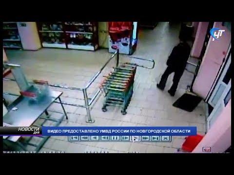 Полицейские при помощи сотрудников магазина задержали подозреваемого в совершении серии грабежей