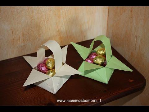 Come realizzare un cestino per Pasqua [HD] www.mammaebambini.it