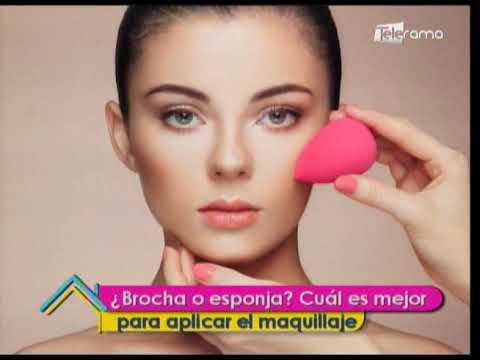 Brocha o esponja ¿Cuál es mejor para aplicar el maquillaje?
