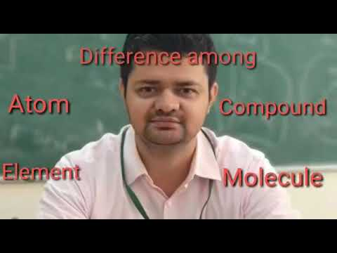 Difference among atom, element, compound and molecule