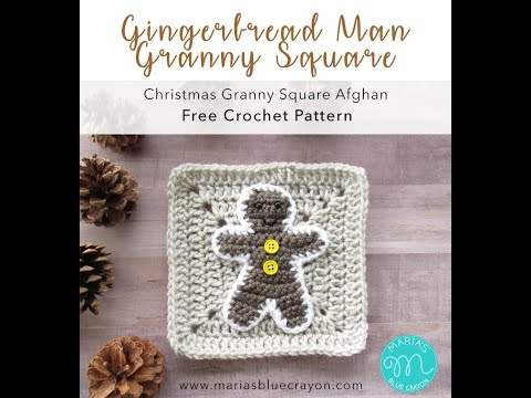 Gingerbread Man Crochet Tutorial - Christmas Granny Afghan